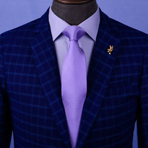 Soft Purple Snakeskin Patterned Classic Tie Mens 8cm Necktie Standard Regular GQ