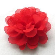 12PCS Large 6CM Organza Ribbon Bows Flowers Appliques Wedding Decoration