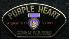 PURPLE HEART AFGHANISTAN LAPEL HAT PIN US ARMY MARINES NAVY AIR FORCE USCG OEF