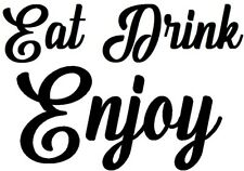 eat drink enjoy coffee shop window signs doors vinyl sticker wall art cafe pub