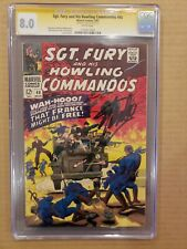 Sgt. Fury and His Howling Commandos #40 CGC SS Stan Lee VF 8.0 White Pages