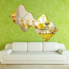 6pcs 3D Acrylic Mirror Deca DIY Wall Home l Mural Decor Vinyl Art Stickers New