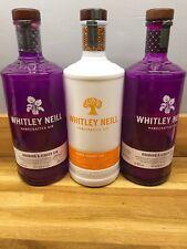 Whitley Neil Empty Gin Bottles Rhubard & Ginger Blood Orange