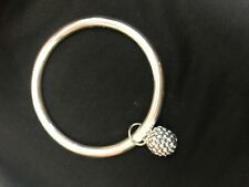 Simon Sebbag Designs Sterling Silver Smooth Bangle Bracelet Wth Ball B1334A/278