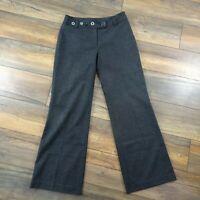 Per Una M&S Size 14L Long Grey Wool Blend Wide Leg Trousers Tall Autumn Winter
