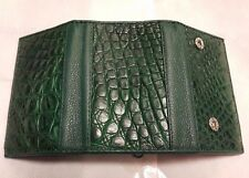 Keychains Keyrings Bags Crocodile Alligator Skin Leather Green Men's Wallets