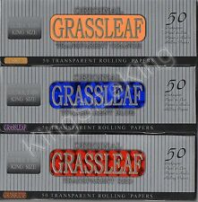 Grassleaf King Size Transparent Colored Rolling Papers (3 Booklets) Kingsize Set