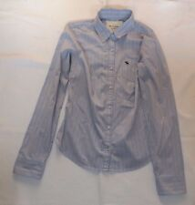 "LADIES VINTAGE LARGE ABERCROMBIE & FITCH BLUE STRIPED SHIRT CHEST 36"" 91cm"