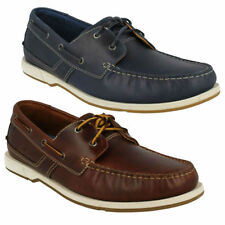 Clarks 100% Leather Deck Shoes for Men