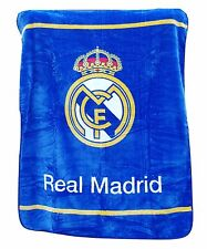 "New Licensed Real Madrid Luxury Plush King Size Blanket 84""X94"""
