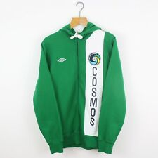 Vintage UMBRO New York Cosmos Green Full Zip Hoodie | American Soccer | Large L