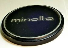 Minolta Metal 57mm Slip On Front lens cap cover for 55mm rim Rokkor f1.4 Genuine