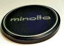 Minolta Metal 57mm Slip On Front lens cap cover for 55mm rim Rokkor f1.4 Genuine