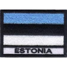 [Patch] BANDIERA ESTONIA cm 7 x 5 toppa ricamata ricamo ESTONIA -030