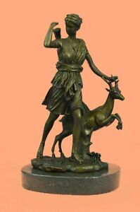 Statue Diana Diane Bronze Bust Sculpture moon goddess Artemis Huntress Large Art