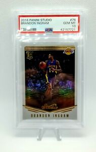 2016 Panini Studio #76 Brandon Ingram RC Rookie PSA 10 GEM MINT Lakers