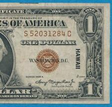 $1.00 1935-A HAWAII BROWN SEAL  SILVER CERTIFICATE, ORIGINAL, ATTRACTIVE