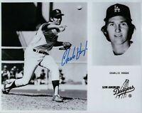 Charlie Hough Signed 8X10 Photo Autograph Los Angeles Dodgers Team Card Auto COA