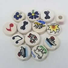 Painted Enamel Porcelain Assorted Beads/charms