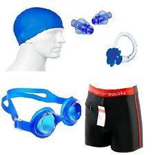 Swimming Kit (Silicon Cap, Ear Plug, Swimming Nose Clip, Goggle, Swim Trunks