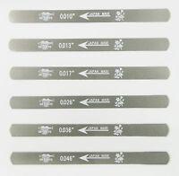 UO-CHIKYU 2506 Nut Files Hiroshima File 6 pcs Set for Electric guitar 010 gauge