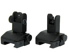 Spring Loaded Tactical Low Profile Same Plane Flip Up Front&Rear Iron Sights Set