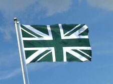 Green Union Jack Flag Great Britain British GB Sport Olympics Support 5 X 3ft