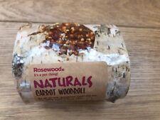 Rosewood Boredom Breaker Natural Treat Nibble Woodroll Carrot Guinea, Rabbits