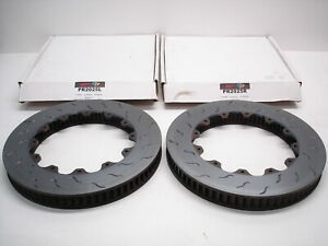 2 NEW NASCAR ALCON RAYBESTOS PR2025 R/L FRONT DISC BRAKE ROTORS 37mm X 328mm BED
