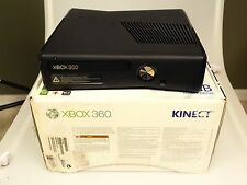 Microsoft Xbox 360 S 250GB Glossy Black Console w/ Kinect Sensor Bar