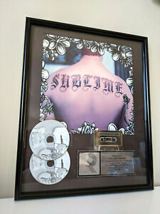 ORIGINAL RARE Sublime Self Titled LP RIAA Multi Platinum Award FRAMED