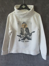 PULL COTTON BEIGE COL ROULé ROCK ♥ CAPTAIN TORTUE  ♥ T 6 ANS TTBE +++ ☺