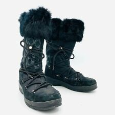 Coach Laurilyn Black Winter Boots Womens Size 10