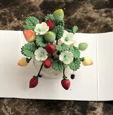 "Vintage Artisan Miniature Gorgeous Hand Crafted Flower Basket Dollhouse 1.25"""