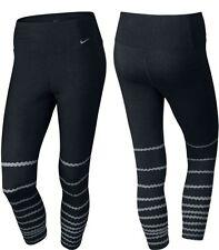 Nike Frauen Legend Tight Poly Burnout Capri , Schwarz , Neu, 725095-010