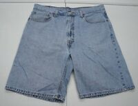 Levi's Mens 36 Blue 550 Cotton Relaxed Fit Denim Jean Shorts