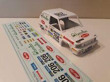 Decals / Calcas al agua escala 1/32  Fiat Panda 4x4 Paris Dakar 1984