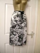 22 ANISE GREY IVORY SKIRT LIGHTWEIGHT STRAIGHT FAUX WRAP HIPPIE BOHO SUMMER