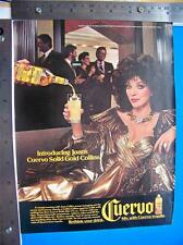 1986 Cuervo Tequila  Print Ad  with Joan Collins  Advertisment