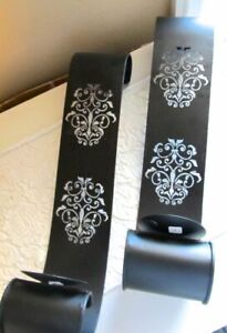 FRENCH APARTMENT! ~ Set of 2! ~ CUT-OUT Scroll Fleur Wall Mounted Candle Holders