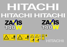 Hitachi zaxis140w-3 Mini Escavatore decalcomania Set