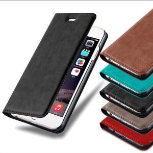 Handy Schutz Hülle Tasche Case Cover für iPhone Samsung Huawei Etui Wallet
