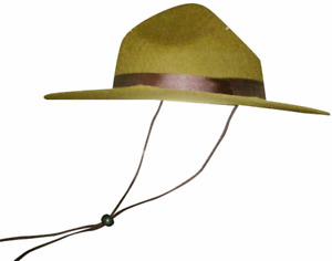 Olive Green Park Ranger/Mountie/ Smokey Bear Hat-One Size Fits Most 14x13x6