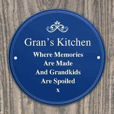 Engraved Personalised Blue Heritage Wall Plaque Sign Birthday, Memorial, Wedding