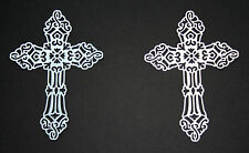 TATTERED LACE CROSS DIE CUTS CHRISTENING, BAPTISM, SYMPATHY