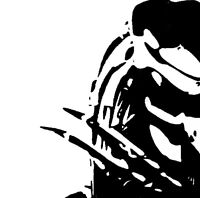 HAND PAINTED - Predator cult horror film pop art painting - Not a print.