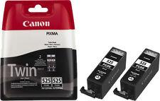 2x pgi525bk Canon PIXMA ip4850 ip4950 ix6550 mg5150 mg5250 mg5350 cartuchos tinta