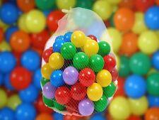 100 x Bolas de Plástico para piscinas para niños niños bola Juguetes Jugar Piscina Multicolores