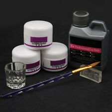 Professional Nail Art Acrylic Liquid Powder Pen Glass Dappen Dish Tools Kit ycb
