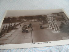 London   Marble Arch Rotary No 10519-16 REAL PHOTO  POSTCARD  VINTAGE  GOOD COND
